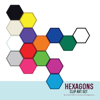 Hexagon Clip Art Set