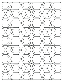 Hexagon Colouring Page