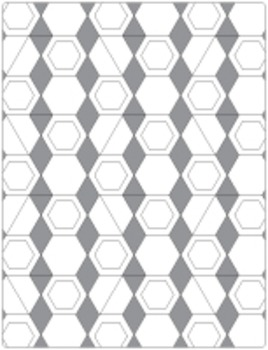 Hexagon Colouring Pages (8 pages)