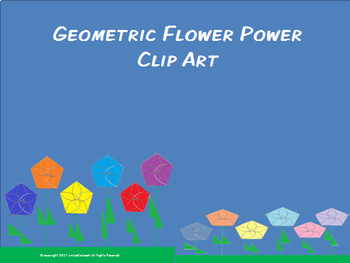 Hexagon Flower Clip Art
