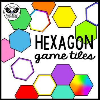 Hexagon Game Tiles - Clip Art