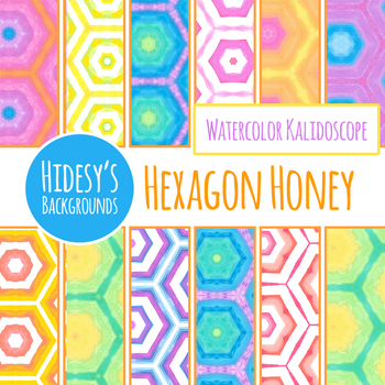 Hexagon Honey Digital Paper / Background / Pattern Clip Art Commercial Use