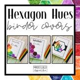 Hexagon Hues Binder Covers & Spines {Editable}