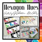 Hexagon Hues Classroom Decor Bundle
