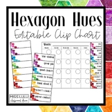 Hexagon Hues Clip Chart {Editable}
