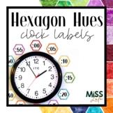 Hexagon Hues Clock Labels