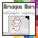 Hexagon Hues Labels {Editable}