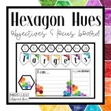 Hexagon Hues Objectives & Focus Board {Editable}