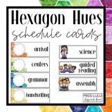 Hexagon Hues Schedule Cards {Editable}