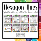 Hexagon Hues Secondary Classroom Decor Bundle