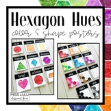 Hexagon Hues Shape and Color Posters