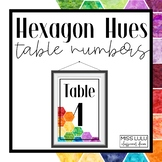 Hexagon Hues Table Numbers