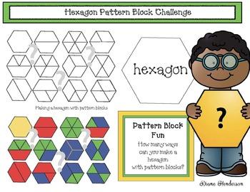 Hexagon Math Challenge With Pattern Blocks