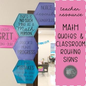 Hexagon Math Quotes