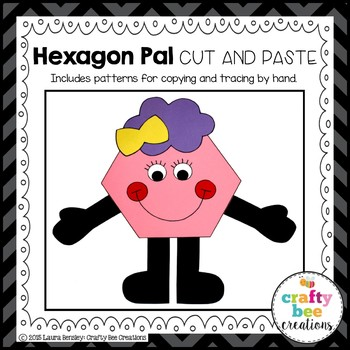 Hexagon Pal Cut and Paste