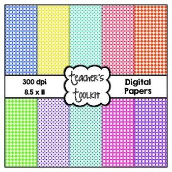 Hexagon Digital Background Papers {8.5 x 11} Clip Art Cu OK