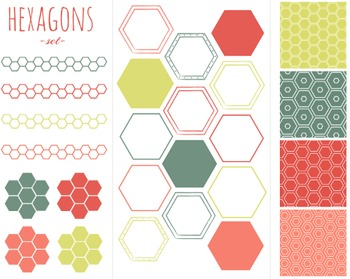 Hexagon Set, Hexagon, Set #214
