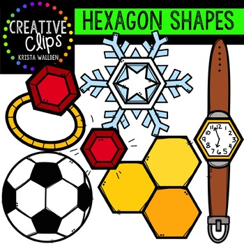 Hexagon Shapes {Creative Clips Digital Clipart}
