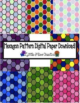 Hexagon pattern digital paper download