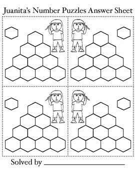 Hexagonal Addition Puzzle Cards: 40 different cards, DIYs!