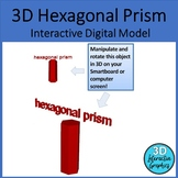 Hexagonal Prism - 3D Shape for Whiteboards and Smartboards