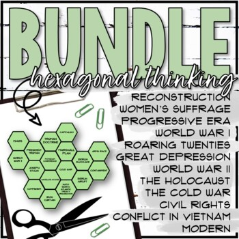 Hexagonal Thinking Activity Bundle (WWII, Holocaust, Cold War)