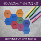 Hexagonal Thinking Kit: Editable for Any Novel