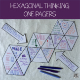 Hexagonal Thinking: One Pagers (for any novel)