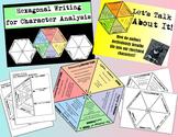 Hexagonal Writing for Character Analysis