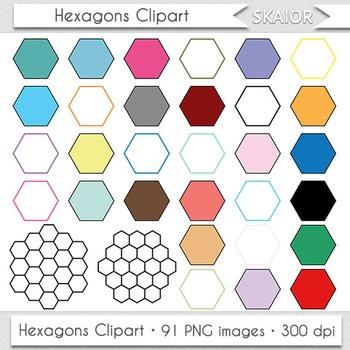 Hexagons Clip Art Game Hexagons Clipart Rainbow Board Game Hexagons Borders