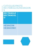 Identify Hexagons and Rectangles in English and Spanish