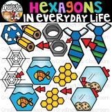 Hexagons in Everyday Life Clipart {Hexagons in real life Clipart}