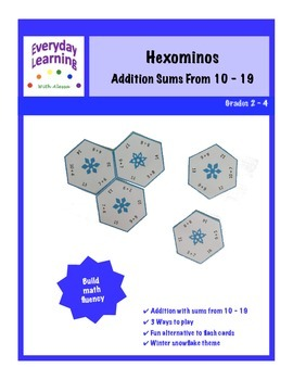 Hexomino Addition Fluency Sums to 19