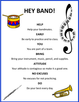 Hey Band! Classroom Rules