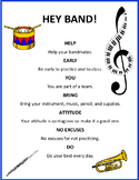 Hey Band! Classroom Rules