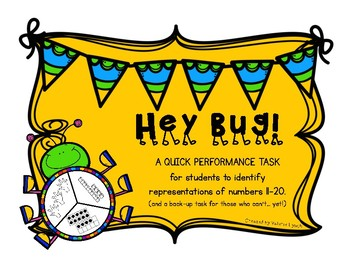 Hey Bug! Performance Task for Concept of Numbers 11-20