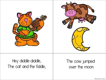 Hey Diddle Diddle, nursery rhyme mini book and sequencing activities
