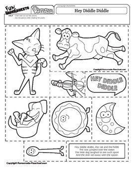 Hey Diddle Diddle - Nursery Rhyme Activity