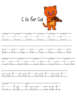 Hey Diddle Diddle - C is for Cat Handwriting