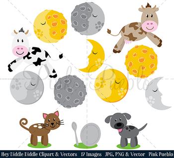 Hey Diddle Diddle Clipart Clip Art, Nursery Rhyme Fairytale Clipart Clip Art