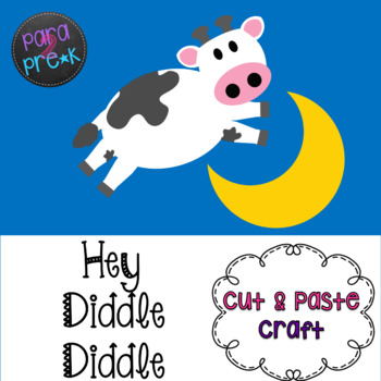Nursery Rhymes Hey Diddle Diddle Cut and Paste Craft ...
