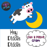 Nursery Rhymes Hey Diddle Diddle Cut and Paste Craft Template