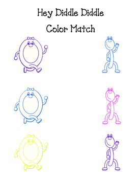 Hey Diddle Diddle - Dish and Spoon Color Match