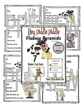 Hey Diddle Diddle Fluency Pyramids