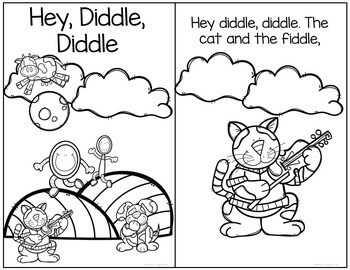 Hey Diddle Diddle Interactive Book and Questions