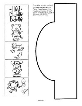 Hey Diddle Diddle Literacy & Math Centers, Activities & Printables for Preschool