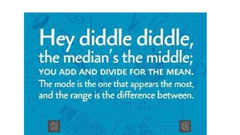 Hey Diddle Diddle (Mean, Median, Mode, Range) Song with Audio