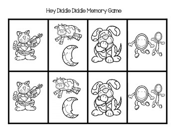 Hey Diddle Diddle Memory Game