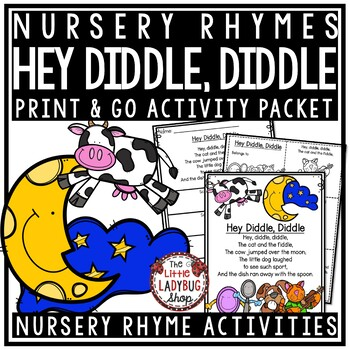 Hey Diddle Diddle Nursery Rhyme Printable Activities