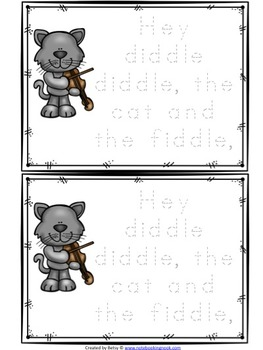 Hey Diddle Diddle Nursery Rhyme Activity Packet